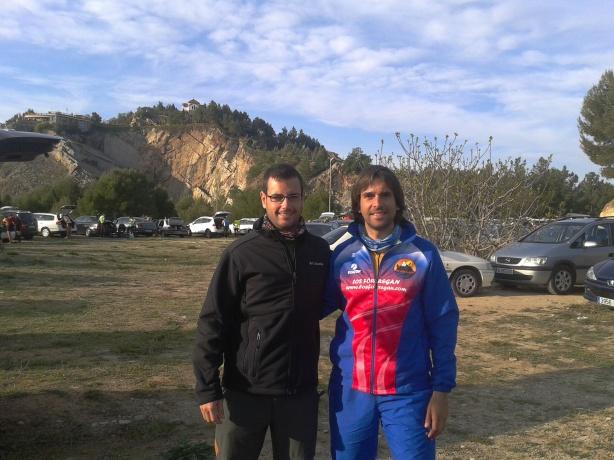 Con mi buen amigo Antonio, justo antes de la salida